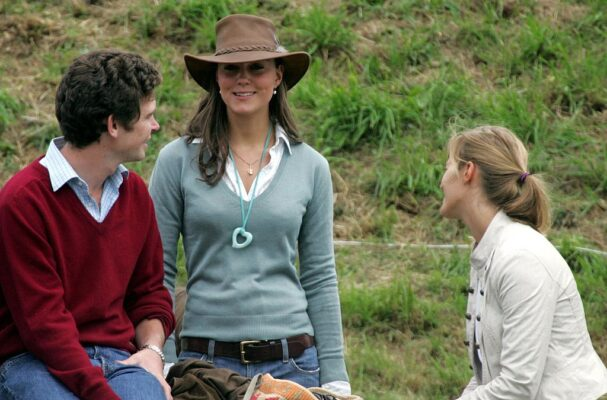 Kate Middleton Blue Sweater Cowboy Hat Gatcombe Horse Trials 2005