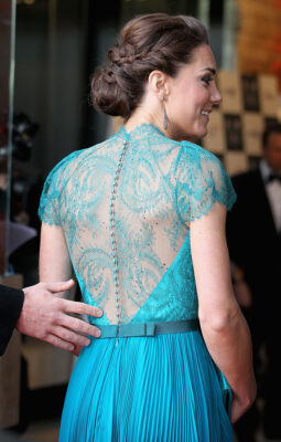 Kate Middleton Up Do Teal Jenny Packham Gown Our Greatest Team Rises Event
