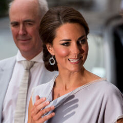 Kate Middleton Up Do Lilac Dress UK's Creative Industries Reception 2012