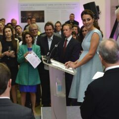 Kate Middleton Blue Sleeveless Emilia Wickstead Dress National Portrait Gallery 2013