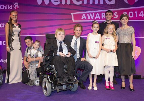 Prince Harry Joins Winners on Stage 2014 WellChild Awards