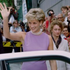Diana Princess Wales Lilac Dress Pearls Waves Victor Chang Cardiac Research Institute Sydney