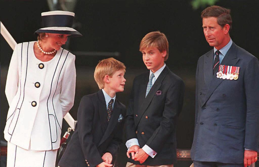 princess diana smiles prince harry prince william prince charles vj day