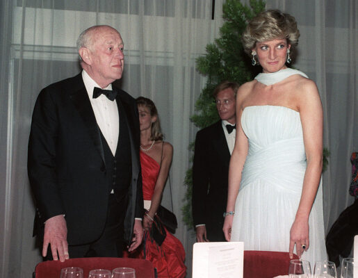 Alec Guinness Princess Diana White Dress Gala Dinner Cannes Film Festival 1987