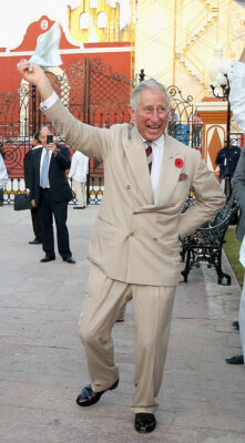 Prince Charles Laughs as He Dances in Mexico 2014