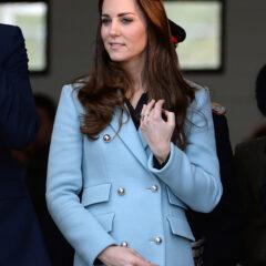 Kate Middleton Blue Matthew Williamson Coat Pembroke Wales