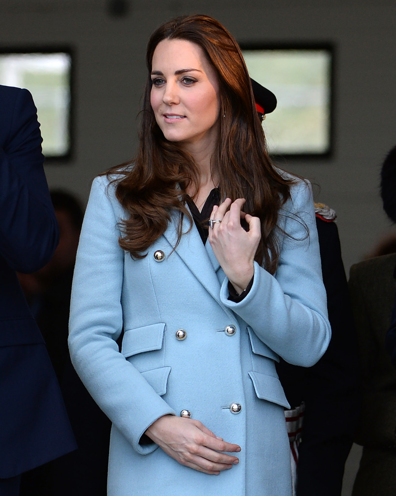Kate Middleton Blue Matthew Williamson Coat Pembroke Wales