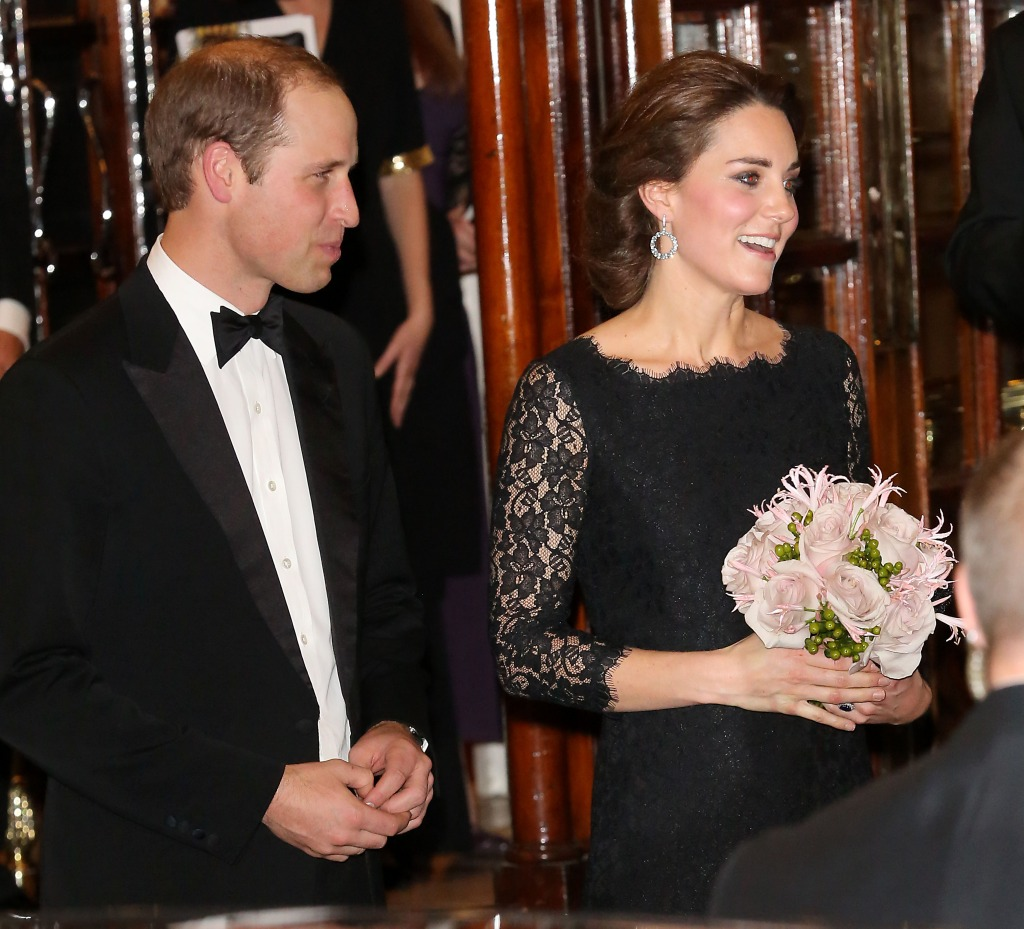 Kate Middleton DVF Dress Prince William Leave Royal Variety Performance
