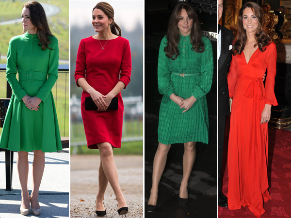 Kate Middleton Red Green Outfits Royal Engagements