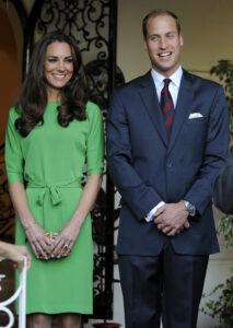 Kate Middleton Green DVF Dress Prince William British Consul-General's Residence LA