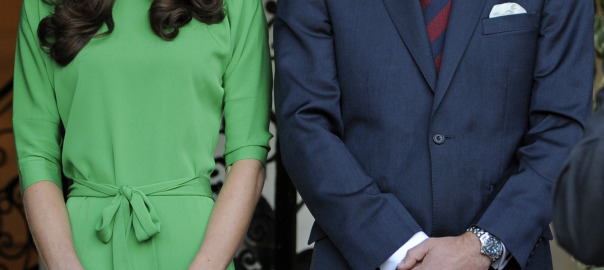 Kate Middleton Green DVF Dress Prince William British Consul-General's Residence LA
