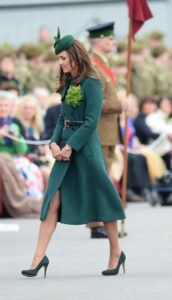 Kate Middleton Emilia Wickstead Coat Gina Foster Hat St. Patrick's Day 2014