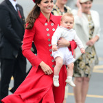 Kate Middleton Catherine Walker Coat Gina Foster Pillbox Hat New Zealand Arrival 2014