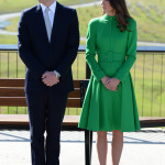 Kate Middleton Catherine Walker Green Coat Prince William National Portrait Gallery Australia