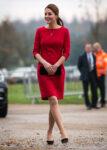 Kate Middleton Katherine Hooker Red Dress EACH Visit