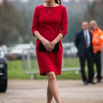 Kate Middleton Katherine Hooker Red Dress EACH Visit