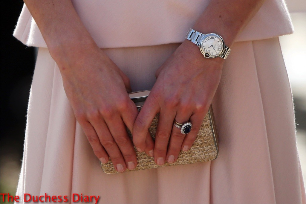 kate middleton pink alexander mcqueen dress close up rings australia