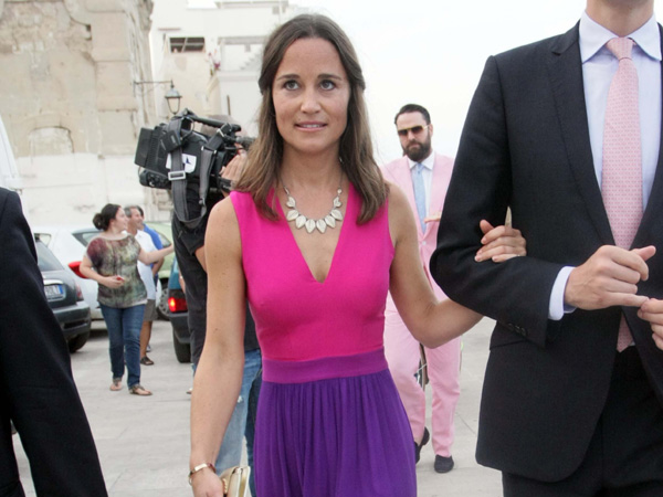 Pippa Middleton Purple Pink Dress Charlie Gilkes Wedding Italy