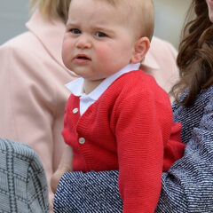 Prince George Red Sweater Kate Middleton Airplane
