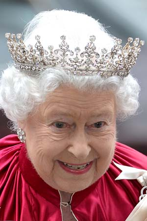 Queen Elizabeth II Arrives Order Of Bath Service Westminster Abbey 2014