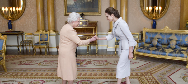 Angelina Jolie Meets Queen Elizabeth Honorary Damehood