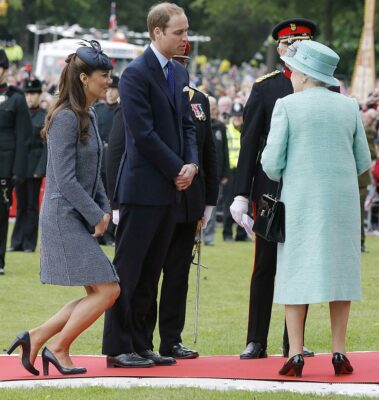 Kate Middleton Curtsies to Queen Elizabeth II After a Visit to The East Midlands