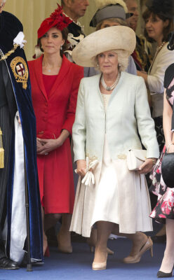Kate Middleton Camilla Duchess Cornwall Curtsy to Queen Who Leaves Order Garter Ceremony 2016