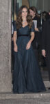 Kate Middleton Jenny Packham Ink Dress Queen's Necklace National Portrait Gallery