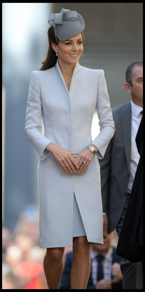 Kate Middleton Alexander McQueen Coat Jane Taylor Hat Easter 2014