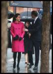 Kate Middleton Mulberry Coat New York City National September 11th Memorial