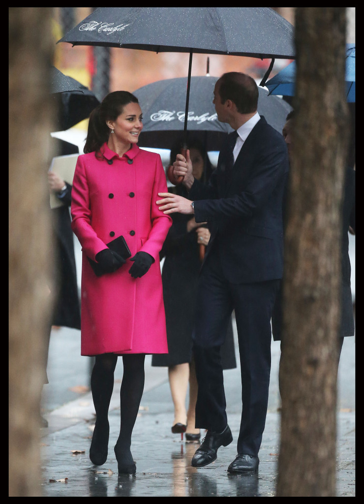 Kate Middleton Mulberry Coat New York City National September 11th Memorial