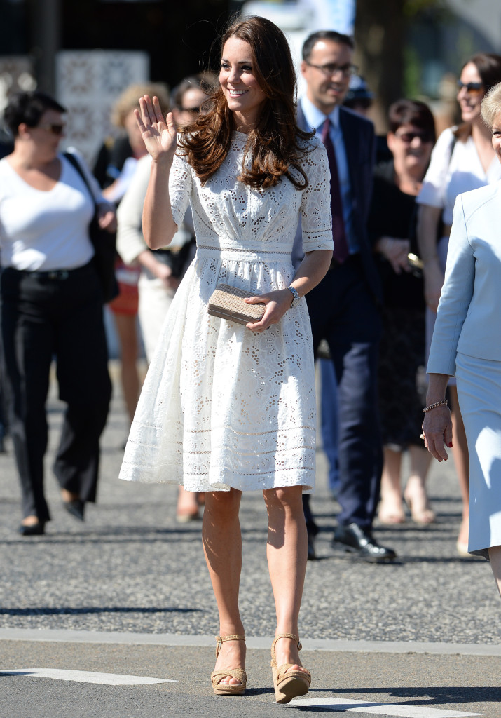 Kate Middleton White Zimmerman Eyelet Dress Australia