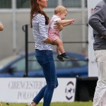 Kate Middleton Petit Bateau Top Prince George Cirencester Polo Club Father's Day 2014