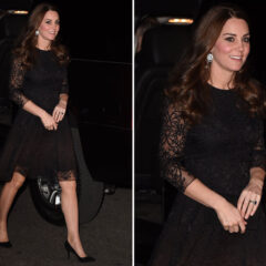 Kate Middleton Black Lace Dress Private Dinner New York