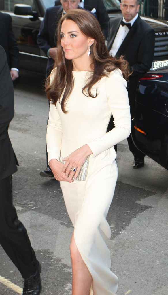 Kate Middleton Cream Roland Mouret Gown Claridge's