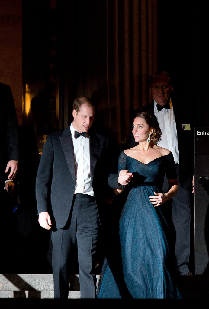 Prince William Tuxedo Kate Middleton Jenny Packham Gown Leave Met New York