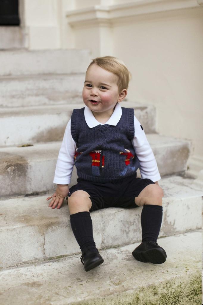Prince George Christmas Vest Knee Socks Kensington Palace