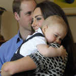 Prince George Nuzzles Kate Middleton Shoulder New Zealand