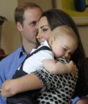 Prince George Nuzzles Kate Middleton Shoulder New Zealand