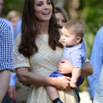 Prince George Carried By Kate Middleton Taronga Zoo