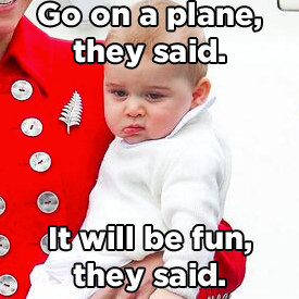 Prince George White Sweater Deplaning New Zealand