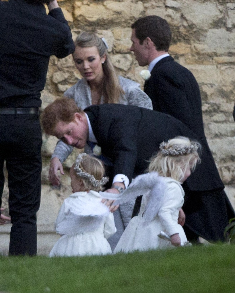 Prince Harry Plays Little Flower Girl Wings