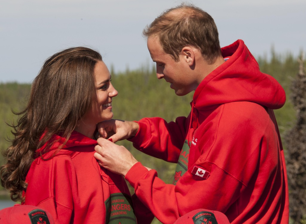 Kate Middleton Prince William Red Sweatshirts Yellowknife