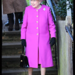 Queen Elizabeth II Leaves Church Service 2014