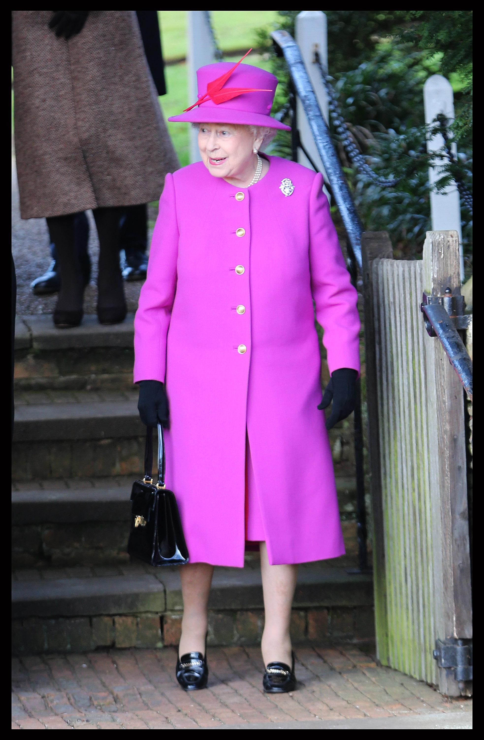 Queen Elizabeth II Leaves Church Service 2014