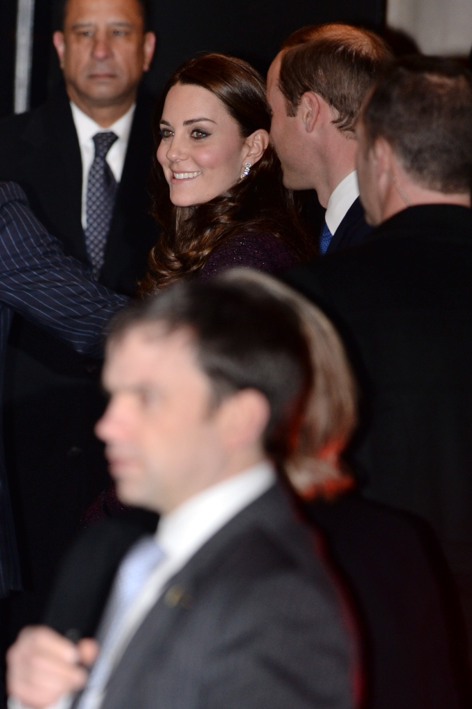 Prince William Suit Kate Middleton Seraphine Maternity Coat New York City Arrival