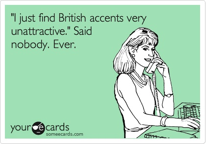 Woman on Phone British Accents