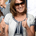 Carole Middleton Thumbs Up Wimbledon Mens Finals 2014