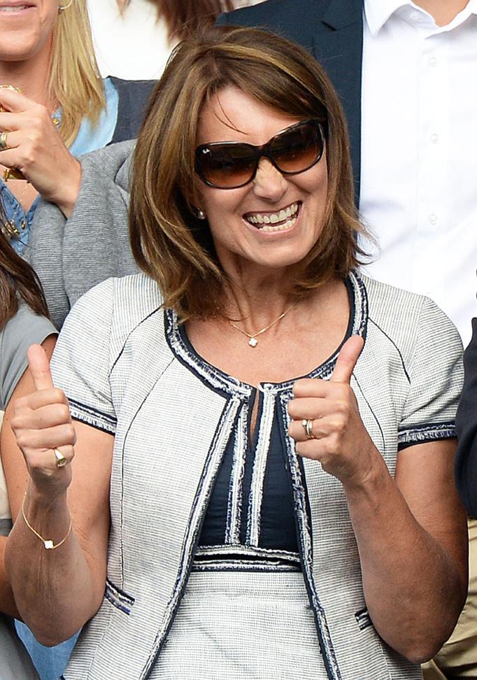 Carole Middleton Thumbs Up Wimbledon Mens Finals 2014