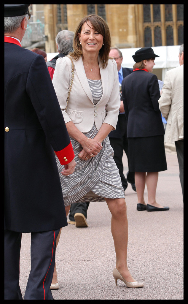 Carole Middleton Smiles Windsor Castle Order of the Garter Service 2012